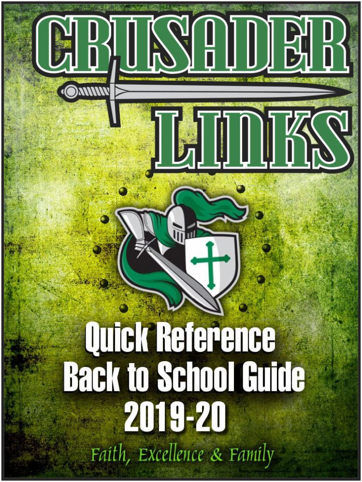 For Incoming Families: Crusader Links 2020 Back to School Guide